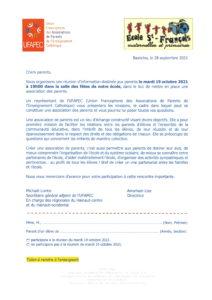 Invitation réunion Ufapec